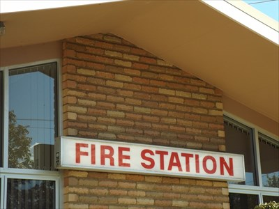 A close up of the sign for the Fire Station in Armidale. 27 March, 2016