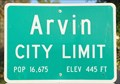 Image for Arvin ~ Population 16,675
