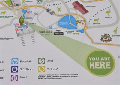 Memphis Zoo Entrance Plaza You Are Here Maps on Waymarkingcom