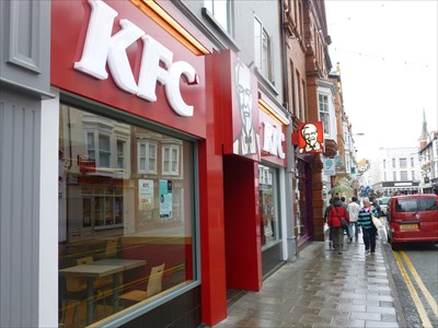 Lord Abercrombie visited KFC - Terrace Road - Aberystwyth, Ceredigion, Wales