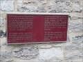 Image for Plaque de la sacristie et de la chapelle des Soeurs grises - Montréal, Québec
