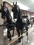 Image for To heste - Jernbanemuseet - Odense, Danmark