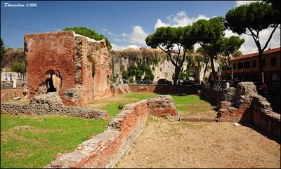 ruins of terme di nerone pisa italy ancient roman civilization on waymarkingcom