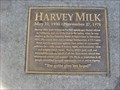 Image for Harvey Milk Plaque - San Francisco, CA