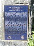 Image for Pte Harry Brown, V.C.  --  Omemee, Ontario
