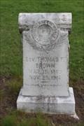 Image for Sov. Thomas F. Brown - Rose Hill Cemetery - Wapanucka, OK