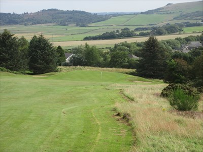 The short second hole plays downhill westwards on the other side of the hill.