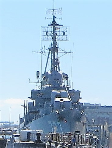 veritas vita visited USS Cassin Young