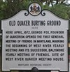 Old Quaker Burying Ground historical marker