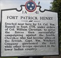 Image for Fort Patrick Henry - 1A 41 - Kingsport, TN