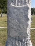 Image for John Miller - I.O.O.F. Cemetery - Denton, TX