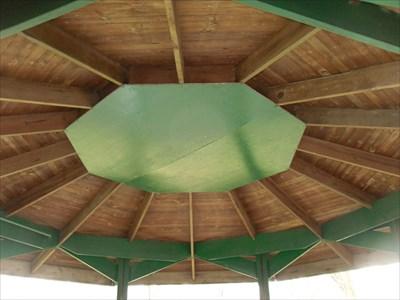 Gros plan du toit intérieur.  Closeup of the interior roof.