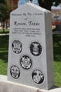 Image for Roscoe Veterans Memorial -- Roscoe TX