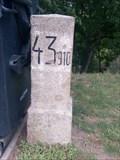 Image for Kilometrovník 43.910 / Kilometerstone 43.910, Dušníky, Czechia