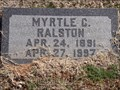 Image for 106 - Myrtle C. Ralston - Summit View Cemetery - Guthrie, OK