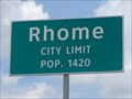 Image for Rhome, TX - Population 1420