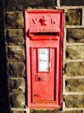Image for Victorian Post Box, Honley Rail Station, Huddersfield. Yorkshire.