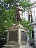 Image for Franklin Crater on Moon - Benjamin Franklin Statue on School Street - Boston, MA