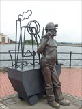 Image for Coal Miner - Roath Dock, Cardiff Bay, Wales.