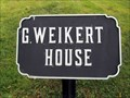 Image for G. Weikert House - Cast Iron Site ID Tablet - Gettysburg National Battlefield Historic District - Gettysburg, PA