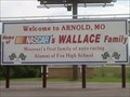 Image for Welcome to Arnold, MO - Home of NASCAR's Wallace Family