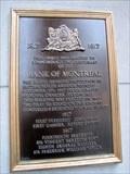 Image for Plaque anglaise du centenaire de la Banque de Montréal  - Montréal, Quebec