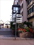 Image for Sister City Direction Signs - Colmar, Alsace, France