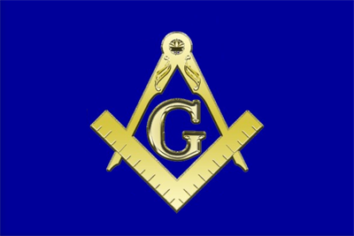 Our drawing of the flag, using a sticker posted at http://www.zazzle.com/freemasonry_symbol_sticker-217482404389528763