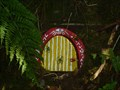 Image for Yellow Fairy Door with Red Frame - Portpatrick, Scotland, UK