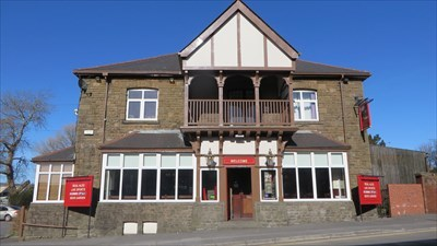 veritas vita visited The Old Market Tavern - Pub Sign - Cardiff, Wales.