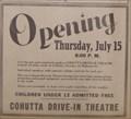 Image for The Cohutta Drive-In Theatre-South of Dalton, Georgia