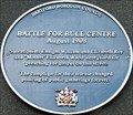 Image for Battle for Bull Centre Blue Plaque - One Bell Corner, Dartford, Kent, UK