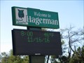 Image for Welcome to Hagerman Time and Temperature Sign - Hagerman, NM