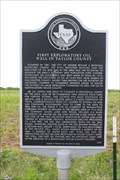 Image for First Exploratory Oil Well in Taylor County