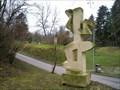 Image for Sandstone sculpture The Khmer Dancer in Prague-Lysolaje, CZ