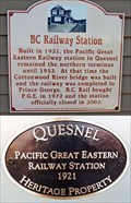 Image for Pacific Great Eastern Railway Station - Quesnel, BC