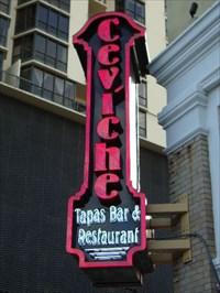 Ceviche Tapas Bar Restaurant St Petersburg Fl Neon Signs On