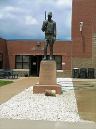 Soldier statue now guards the entrance to 