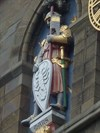 Clock Tower Statues - Mars - Cardiff Castle, Wales.