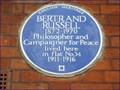 Image for Bertrand Russell - Bury Place, London, UK