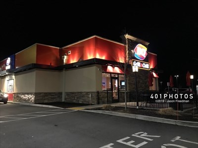 Drive-thru and outdoor seating area