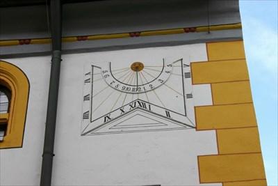 Sonnenuhr am Klösterle; sundial at the 'Kloesterle'