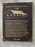 Image for MHM Marais Memorial Hall - Marais MB