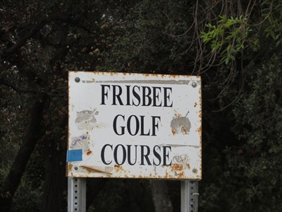 Another Frisbee Golf Course Sign, Pasadena, California