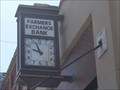 Image for Farmers Exchange Bank Clock - Tonkawa, OK
