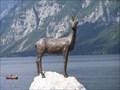 Image for The white mountain goat Zlatorog - Ribcev Laz, Slovenia