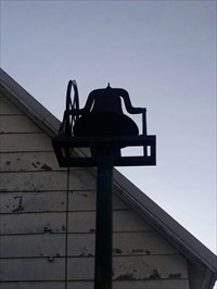 Bell Pole (tower) at Greenwood Church and former school in the Cowskin Prairie area of rural McDonald County, Missouri, by MountainWoods