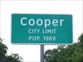 Image for Cooper, TX - Population 1969