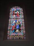 Image for Windows, Church of St Myllin, Llanfyllyn, Powys, Wales, UK