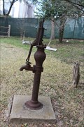 Image for Gano House Dempster Mill pump -- Dallas Heritage Village, Dallas TX